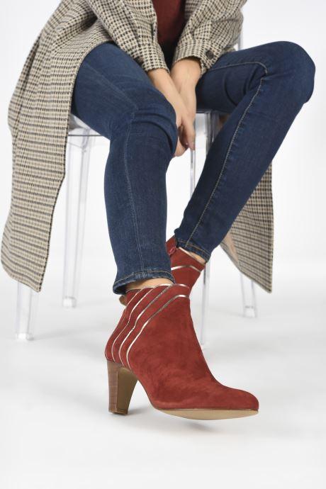 Stiefeletten & Boots Georgia Rose Lyzzie rot ansicht von unten / tasche getragen