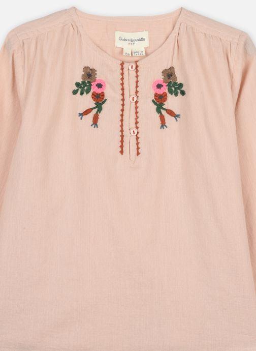 Vêtements Arsène et les Pipelettes Blouse Tycia Rose vue face