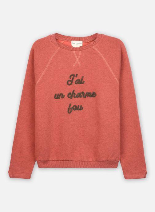 Vêtements Arsène et les Pipelettes Sweat Theobald Rouge vue détail/paire