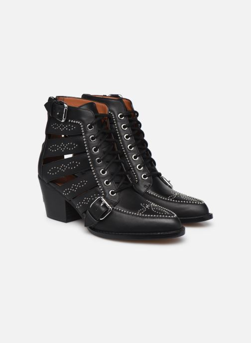 Stiefeletten & Boots Coach Paisley Leather Bootie schwarz 3 von 4 ansichten