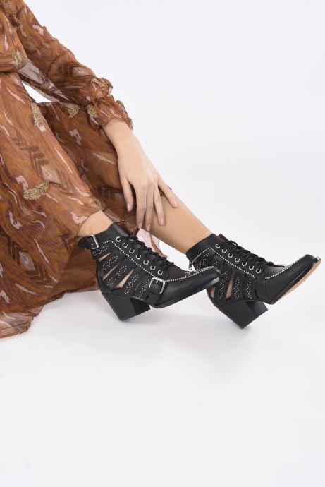 Stiefeletten & Boots Coach Paisley Leather Bootie schwarz ansicht von unten / tasche getragen