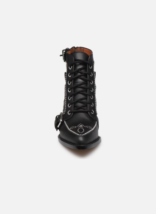 Stiefeletten & Boots Coach Paisley Leather Bootie schwarz schuhe getragen