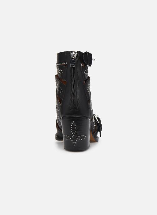 Stiefeletten & Boots Coach Paisley Leather Bootie schwarz ansicht von rechts