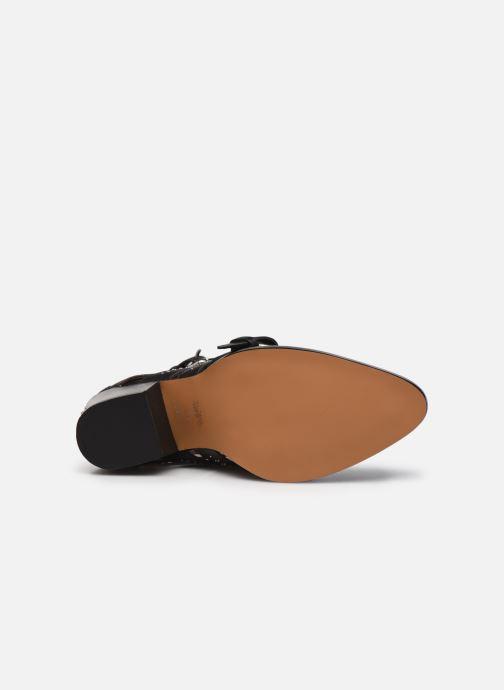 Stiefeletten & Boots Coach Paisley Leather Bootie schwarz ansicht von oben