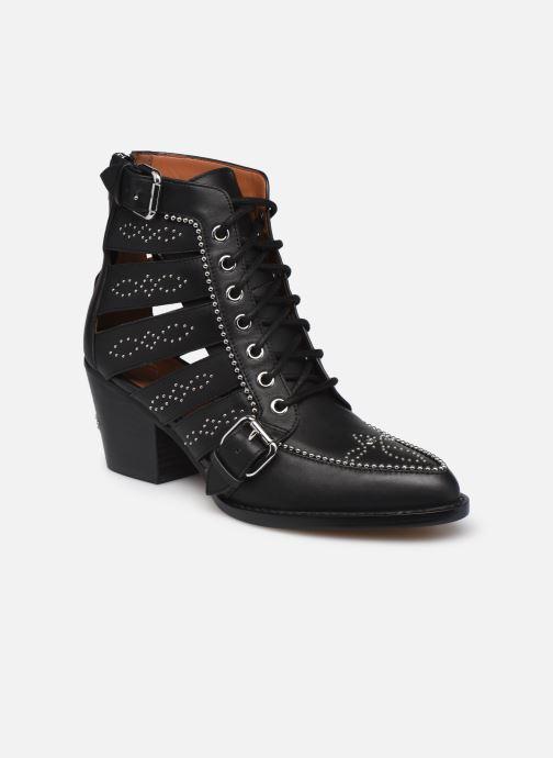 Stiefeletten & Boots Coach Paisley Leather Bootie schwarz detaillierte ansicht/modell