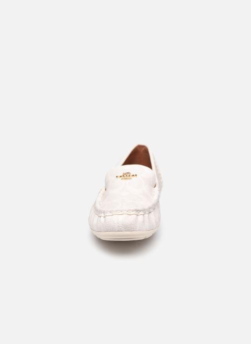 Mocassins Coach Marley Leather Driver Blanc vue portées chaussures