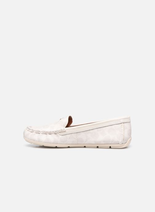 Mocassins Coach Marley Leather Driver Blanc vue face
