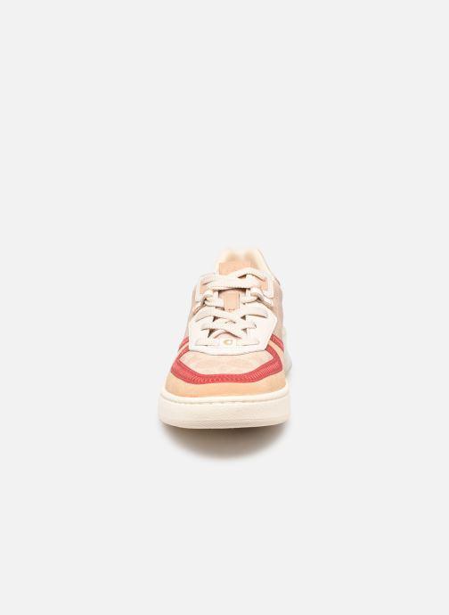 Baskets Coach Citysole Sig Pvc Court Sneaker Beige vue portées chaussures