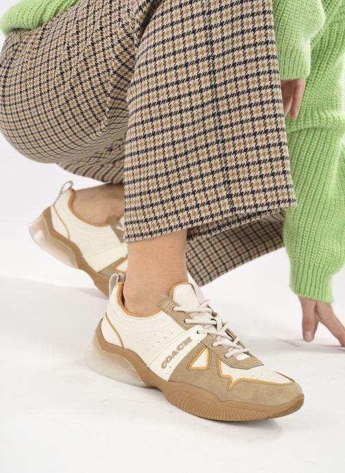 Sneaker Coach Citysole Leather-Terrycloth Runner beige ansicht von unten / tasche getragen