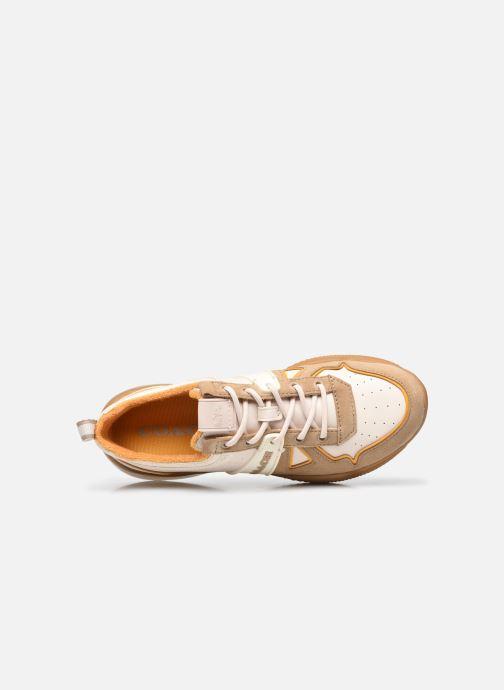 Sneaker Coach Citysole Leather-Terrycloth Runner beige ansicht von links