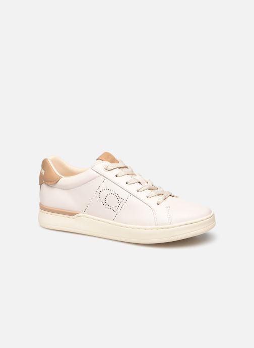 Baskets Coach Lowline Leather Low Top Blanc vue détail/paire