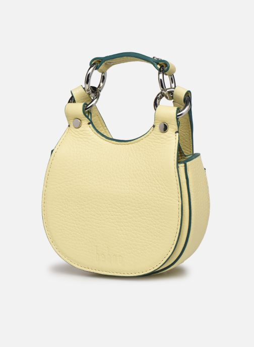 Bolsos de mano Behno Tilda Saddle Bag Micro Amarillo vista del modelo