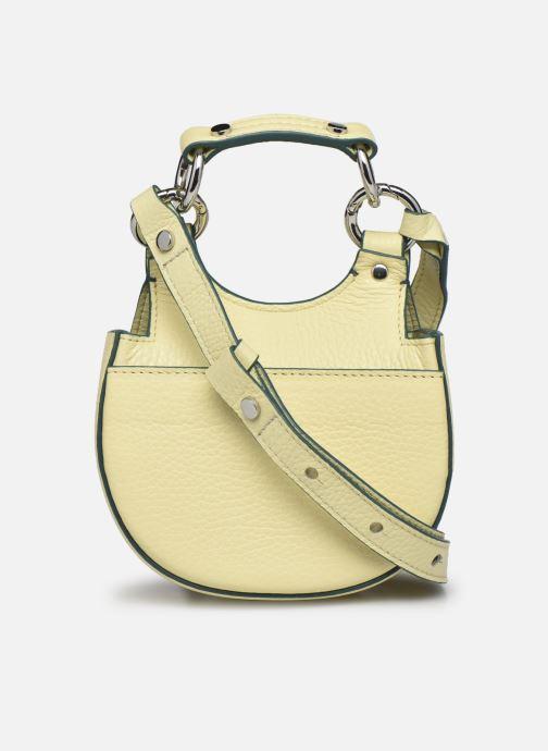 Bolsos de mano Behno Tilda Saddle Bag Micro Amarillo vista de frente