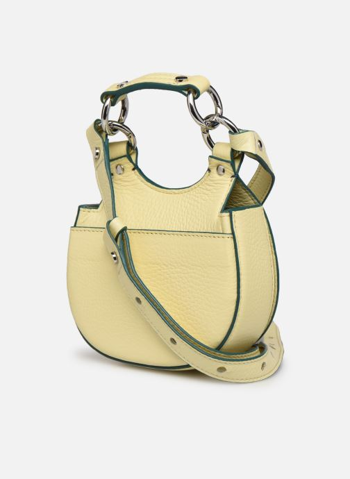 Bolsos de mano Behno Tilda Saddle Bag Micro Amarillo vista lateral derecha
