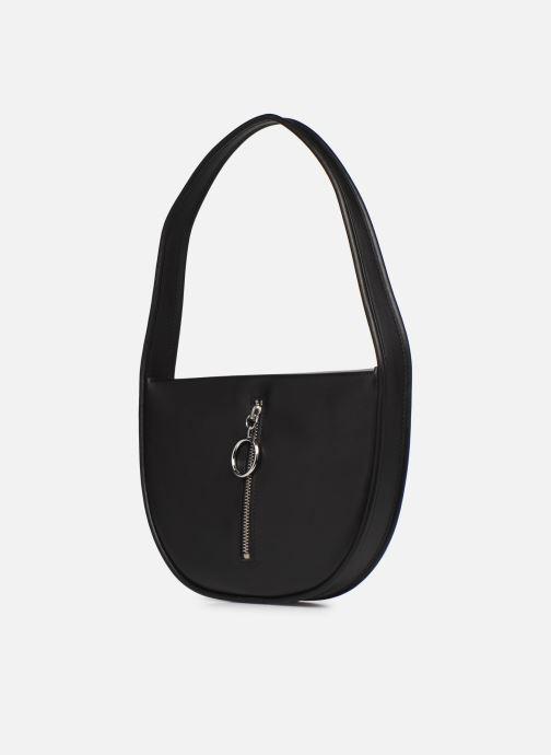 Bolsos de mano Behno Greta Single Shoulder Bag Negro vista del modelo