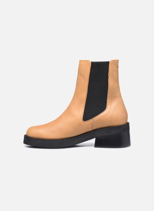 Boots en enkellaarsjes E8 by Miista Thea Beige voorkant