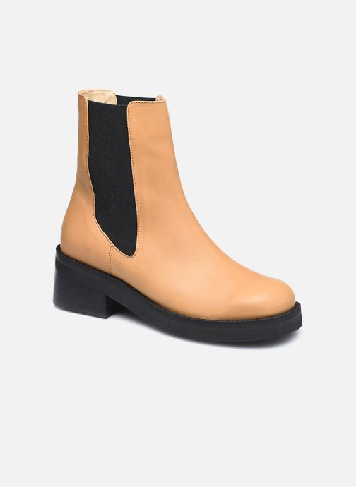 Boots en enkellaarsjes E8 by Miista Thea Beige detail