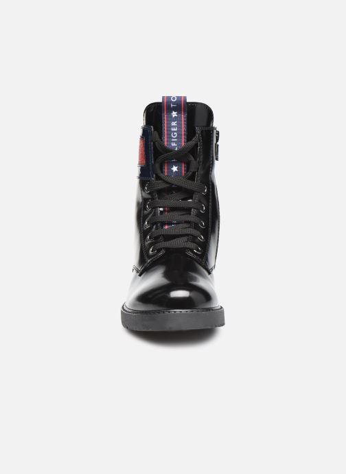 Bottines et boots Tommy Hilfiger Lace-Up Boot Noir vue portées chaussures