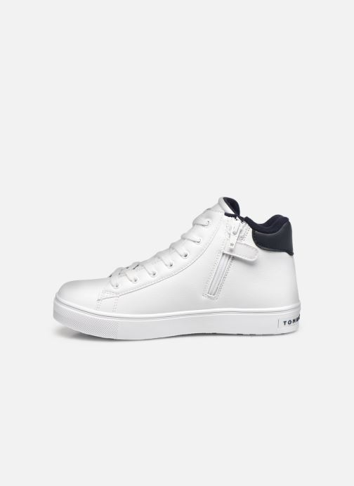 Sneakers Tommy Hilfiger High Top Lace-Up Sneaker Bianco immagine frontale
