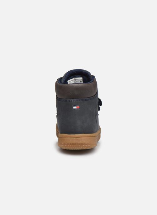 Deportivas Tommy Hilfiger Mid Cut Velcro Shoe Azul vista lateral derecha
