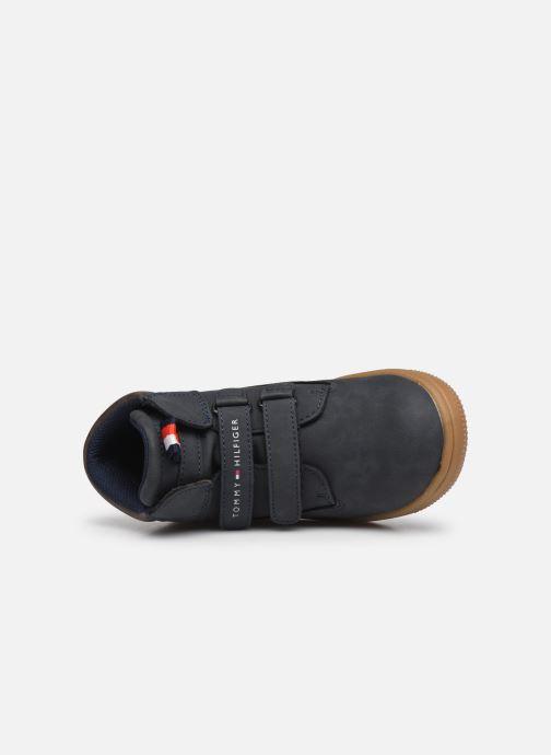 Deportivas Tommy Hilfiger Mid Cut Velcro Shoe Azul vista lateral izquierda