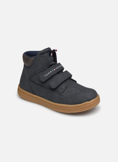 Deportivas Tommy Hilfiger Mid Cut Velcro Shoe Azul vista de detalle / par