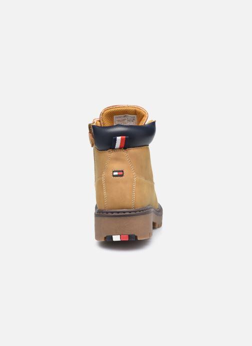 Bottines et boots Tommy Hilfiger Lace-Up Bootie Marron vue droite