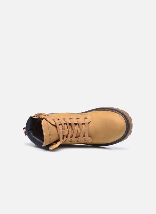 Bottines et boots Tommy Hilfiger Lace-Up Bootie Marron vue gauche