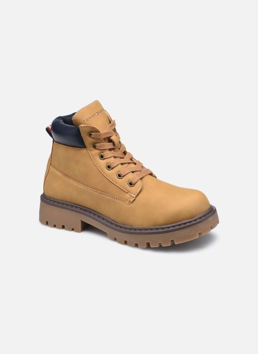 Bottines et boots Tommy Hilfiger Lace-Up Bootie Marron vue détail/paire
