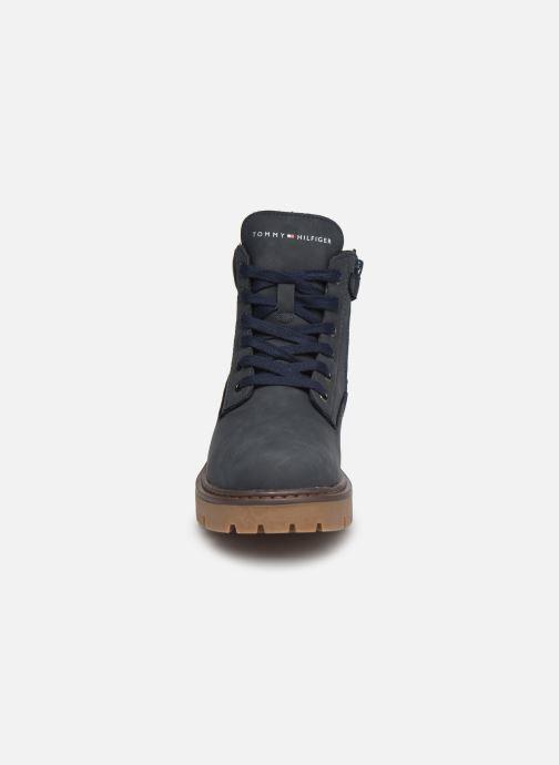 Bottines et boots Tommy Hilfiger Lace-Up Bootie Bleu vue portées chaussures