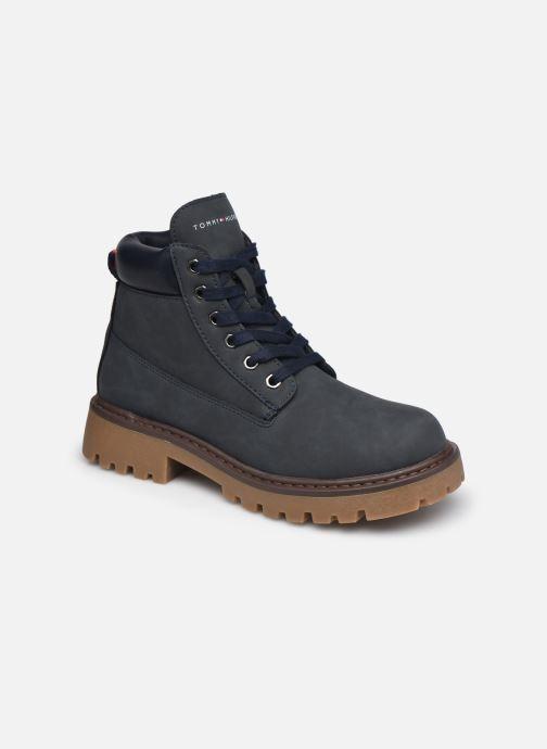Bottines et boots Tommy Hilfiger Lace-Up Bootie Bleu vue détail/paire