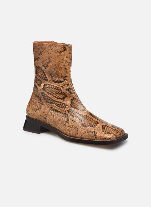 Boots en enkellaarsjes Miista Aroha Bruin detail