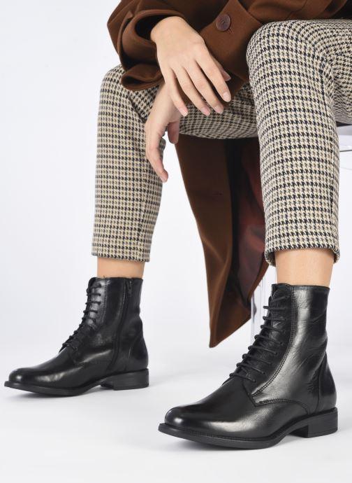 Bottines et boots Georgia Rose Soft Risouria Noir vue bas / vue portée sac