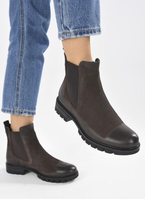 Bottines et boots Georgia Rose Soft Rachel Marron vue bas / vue portée sac