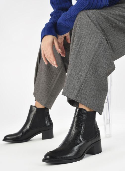 Bottines et boots Georgia Rose Soft Rita Noir vue bas / vue portée sac