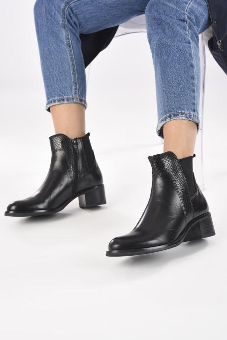 Bottines et boots Georgia Rose Soft Rozalla Noir vue bas / vue portée sac
