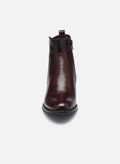 Bottines et boots Georgia Rose Soft Rozalla Bordeaux vue portées chaussures
