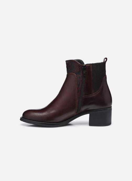 Bottines et boots Georgia Rose Soft Rozalla Bordeaux vue face