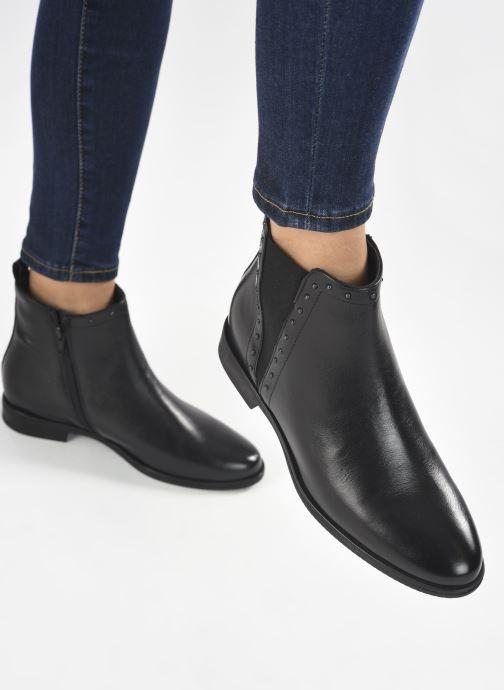 Bottines et boots Georgia Rose Soft Régine Noir vue bas / vue portée sac
