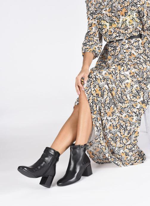 Bottines et boots Georgia Rose Soft Robine Noir vue bas / vue portée sac