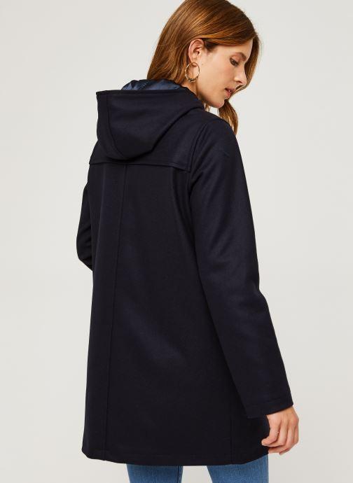 """Vêtements Armor Lux Duffle Coat """"Concarn Femme Bleu vue portées chaussures"""