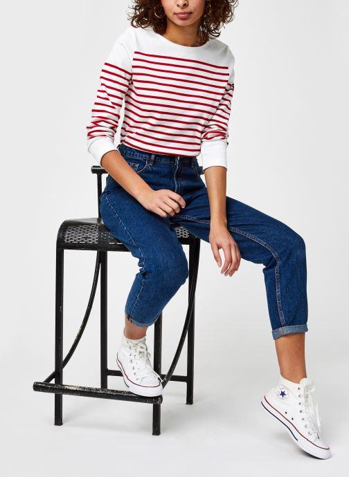 Vêtements Armor Lux Marinière ''Amiral'' Femme Blanc vue bas / vue portée sac