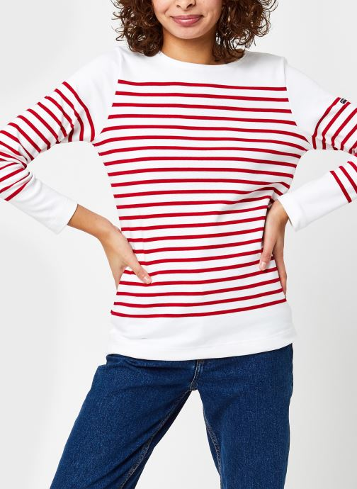 Vêtements Armor Lux Marinière ''Amiral'' Femme Blanc vue droite