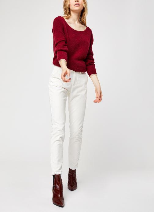 Vêtements Kanopé Pantalon Dahlia Velours Blanc vue bas / vue portée sac