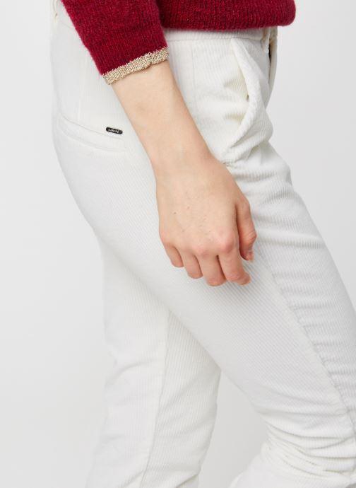 Vêtements Kanopé Pantalon Dahlia Velours Blanc vue face