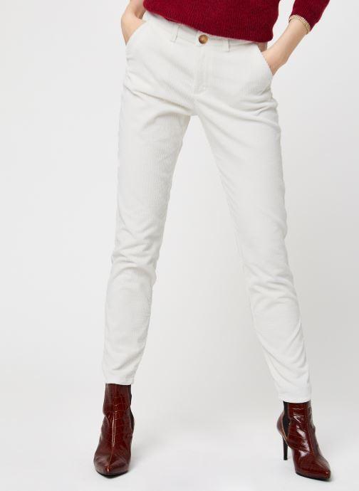 Vêtements Kanopé Pantalon Dahlia Velours Blanc vue détail/paire