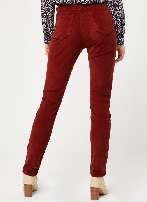 Vêtements Kanopé Pantalon Clementine Velours Rouge vue portées chaussures