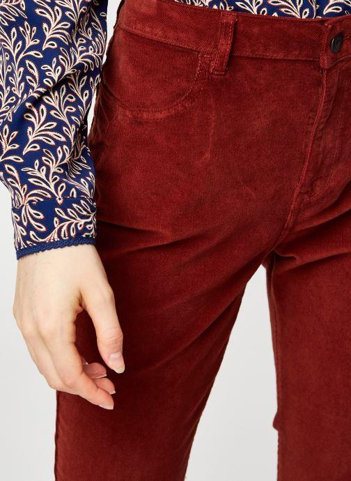 Vêtements Kanopé Pantalon Clementine Velours Rouge vue face