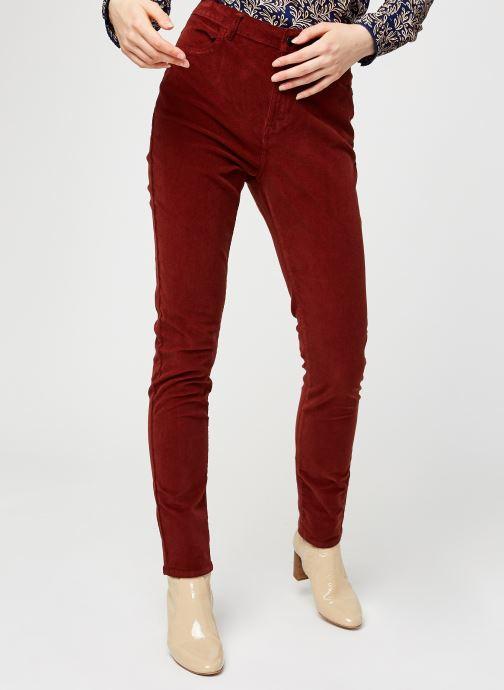 Vêtements Kanopé Pantalon Clementine Velours Rouge vue détail/paire