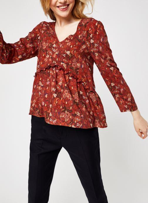 Vêtements Kanopé Top Sandra Indienne Rouge vue détail/paire